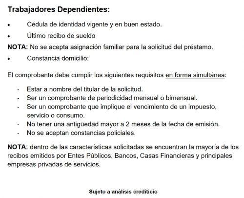 requisitos creditos asi trabajadores dependientes