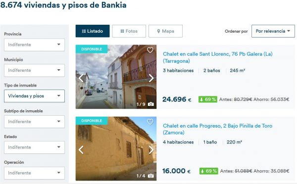 Inmobiliaria bankia acceder al listado completo 2018 for Pisos de bancos bankia