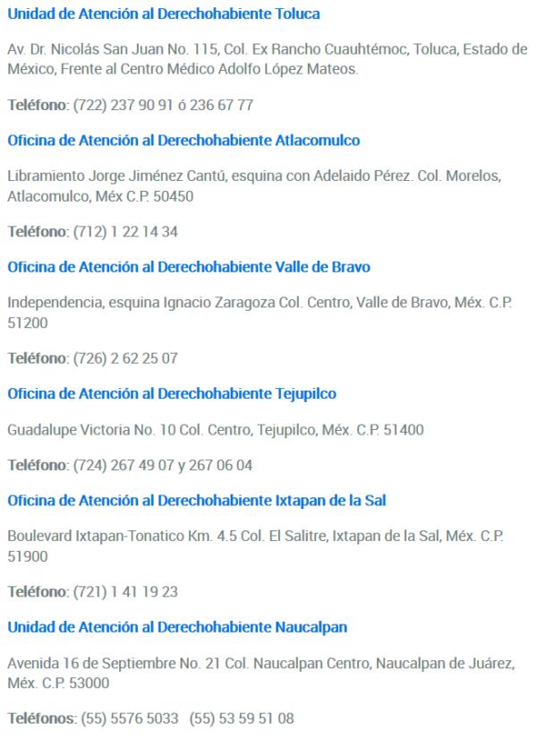 -Unidades de Atención al Derechohabiente _ ISSEMyM