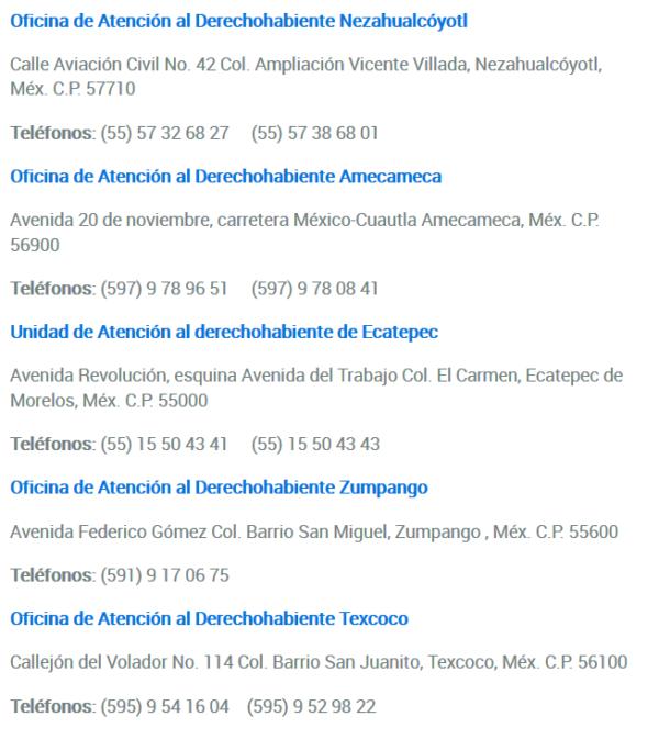 Unidades de Atención al Derechohabiente _ ISSEMyM