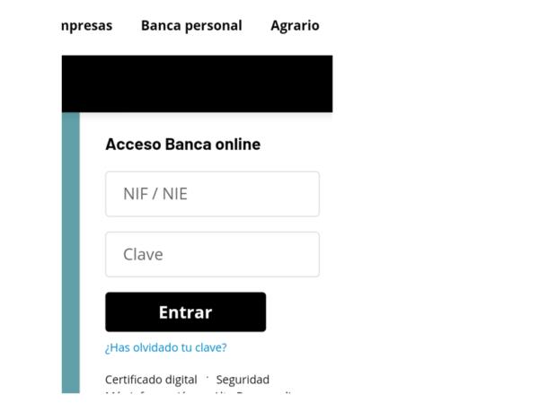CAJASUR Particulares - Acceso Banca ONLINE