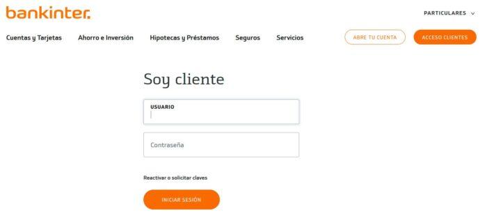 Acceso clientes banca online _ Bankinter