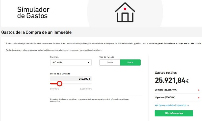 Simulador de gastos vivienda hipoteca kutxabank