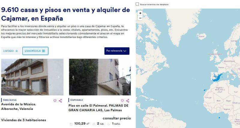 Inmuebles y viviendas en venta y alquiler de Cajamar en España...